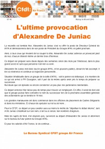 L'ultime provocation d'Alexandre De Juniac