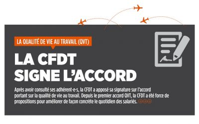 QVT – La CFDT signe l'accord