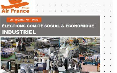 ÉLECTIONS COMITÉ SOCIAL & ÉCONOMIQUE INDUSTRIEL