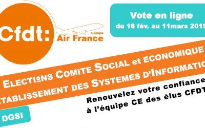 ÉLECTIONS COMITÉ SOCIAL & ÉCONOMIQUE ETABLISSEMENT DES SYSTÈMES D'INFORMATION