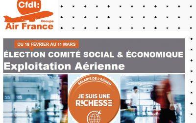ÉLECTIONS COMITÉ SOCIAL & ÉCONOMIQUE EXPLOITATION AÉRIENNE