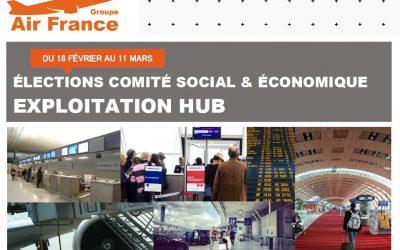 ÉLECTIONS COMITÉ SOCIAL & ÉCONOMIQUE EXPLOITATION HUB