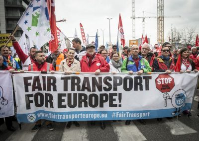 ETF transports workers demonstration