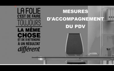 MESURES D'ACCOMPAGNEMENT  DU PDV