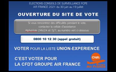 ELECTIONS CONSEILS DE SURVEILLANCE FCPE  AIR FRANCE 2021 du 30 juin au 19 juillet